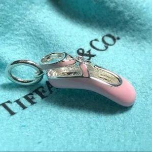 T&Co. 🦋 Sterling Silver Pink Ballet Slipper Charm